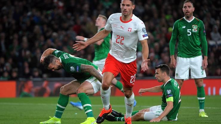 Immer wieder für ein Tor gut. Hier freut sich Fabian Schär über sein 1:0 im EM-Qualifikationsspiel in Irland. Am Ende gibt es nur ein Unentschieden.
