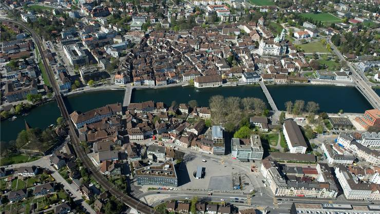 Luftaufnahme der Stadt Solothurn