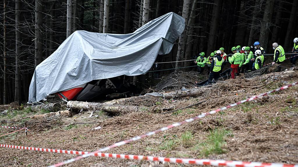Seilbahnunglück in Norditalien - Jetzt insgesamt 14 Verdächtige
