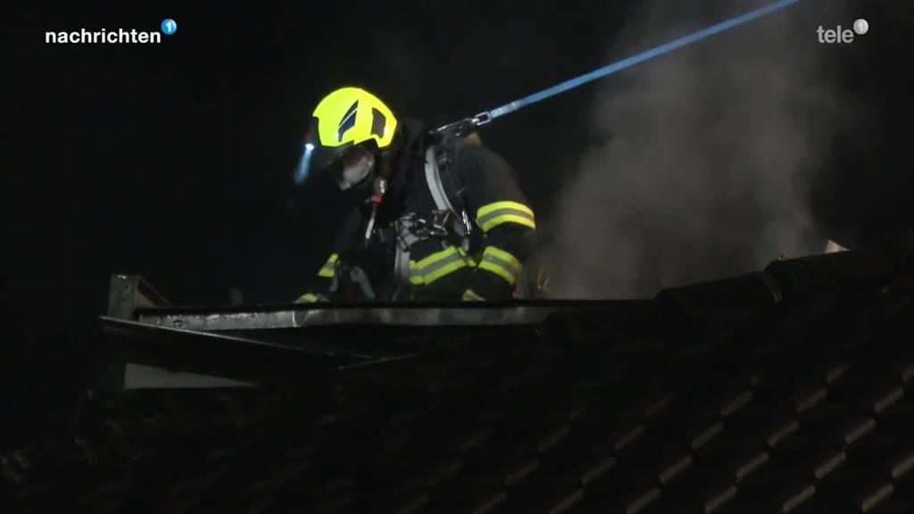 Brand in einem Mehrfamilienhaus in Kriens