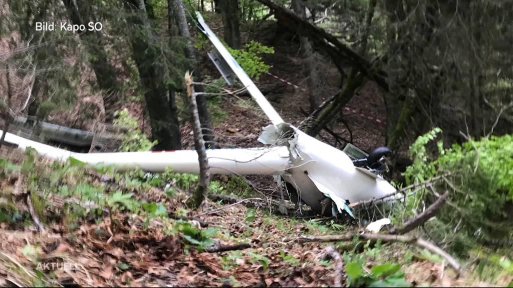Flugunfall am Bettlachberg: Pilot hatte Glück im Unglück