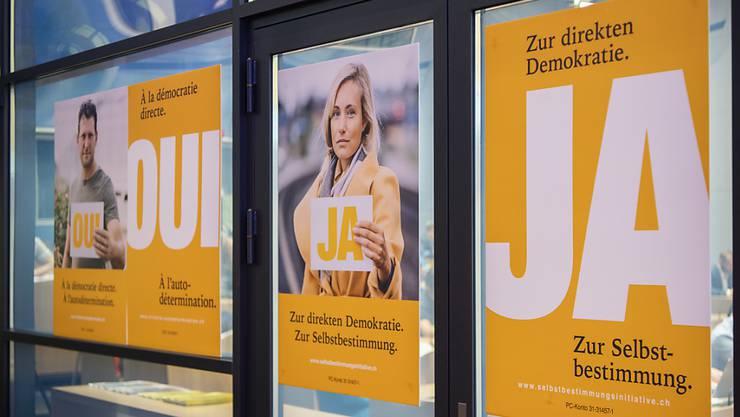 Mit diesen Plakaten will die SVP Wählerstimmen gewinnen.