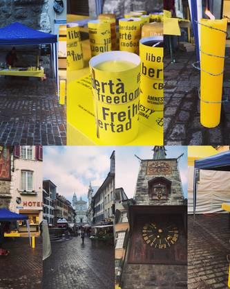 Aktionsstand von Amnesty Solothurn