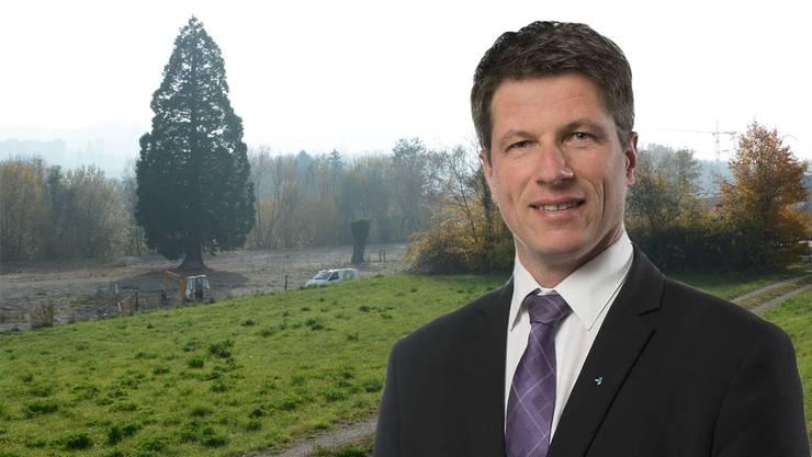 Daniel Wehrli macht Stimmung gegen eine mögliche Asyl-Grossunterkunft im Küttiger Gebiet Ritzer.