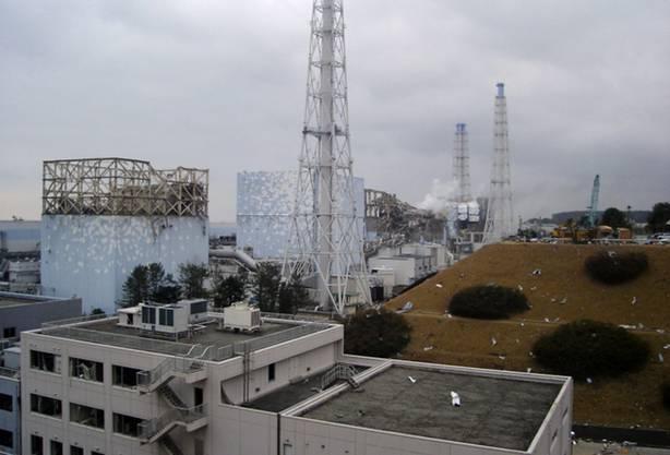 Ein weiteres aktuelles Bild zeigt zumindest das oberflächliche Ausmass der Verwüstungen in Fukushima I