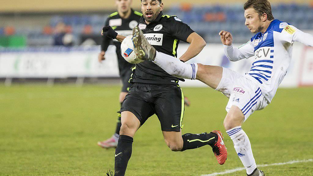 Der frühere brasilianische Internationale André Santos (schwarzes Tenue) erzielte für den FC Wil in der vergangenen Challenge-League-Saison in 25 Spielen 9 Tore