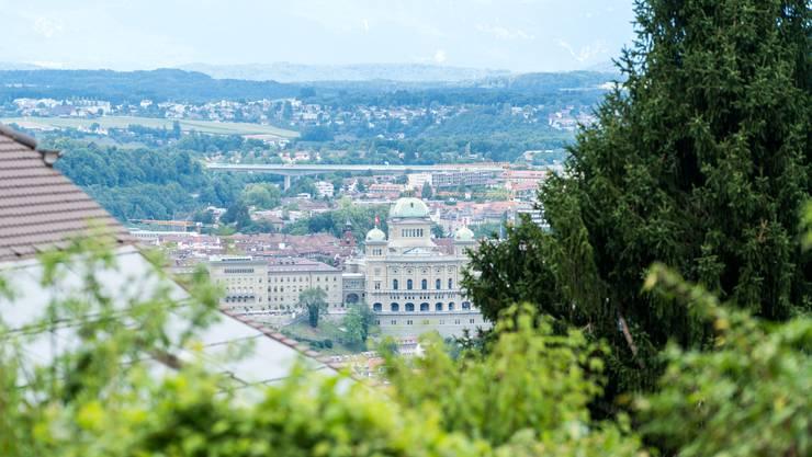 Auf den Spuren von Simonetta Sommaruga: Vom Gurten geniesst man einen tollen Blick auf Bern und Köniz.