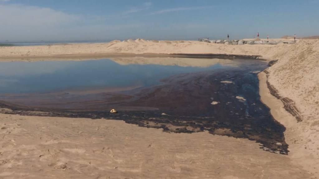 Ölteppich bedroht kalifornische Küste - Strände gesperrt