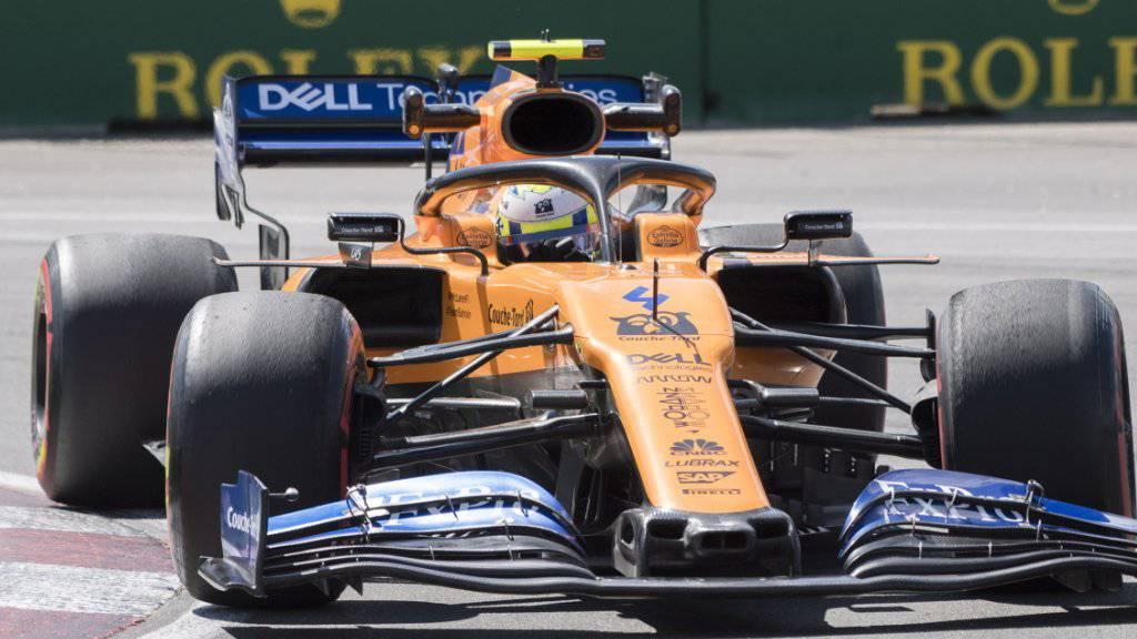 Macht in seiner ersten Formel-1-Saison bisher einen starken Eindruck: Lando Morris im McLaren-Renault