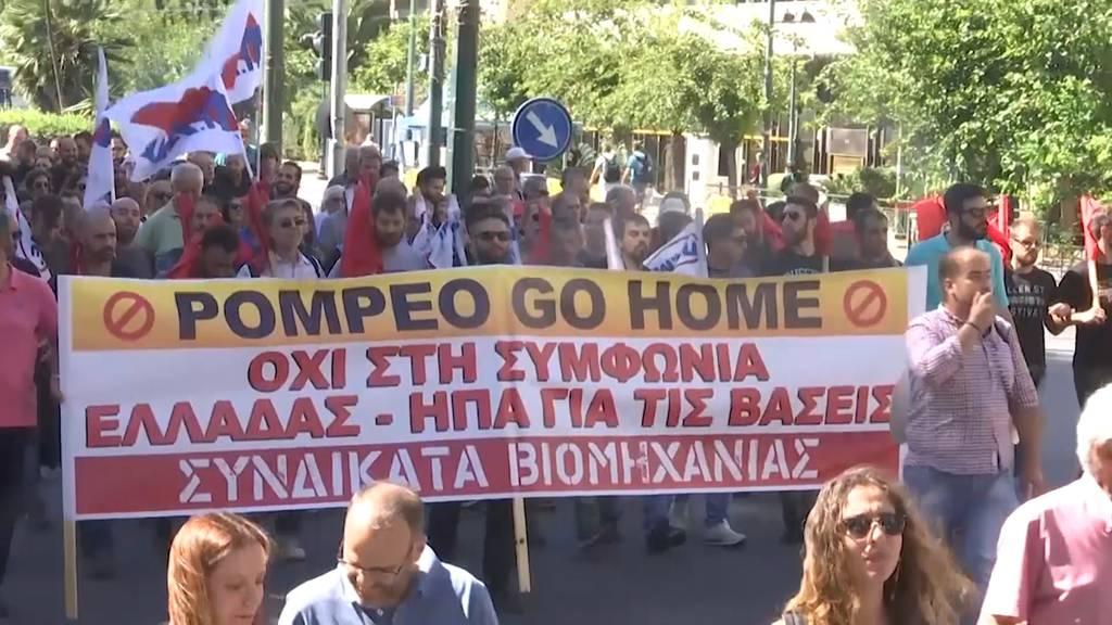 Pompeo besucht Griechenland - 5000 Demonstrieren