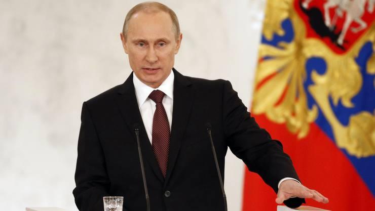 Wladimir Putin verhängt gab am Donnerstag Gegensanktionen bekannt. (Archivbild)