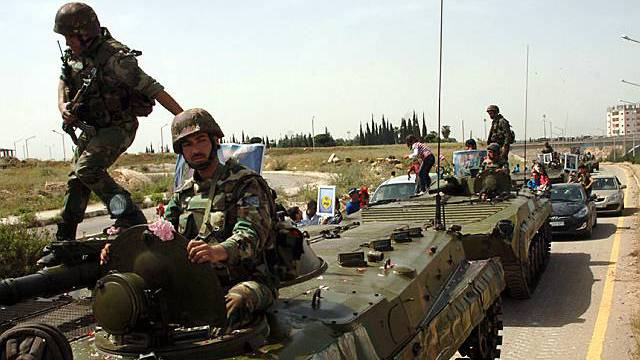 Syrische Soldaten in Daraa (Archiv)