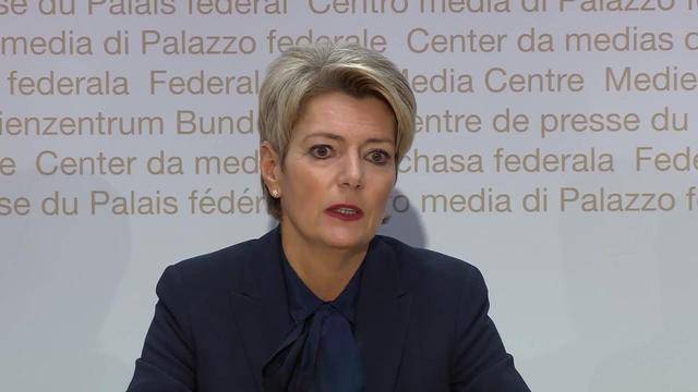 Karin Keller-Sutter vor den Medien: «Die Favoritenrolle war nicht immer angenehm»