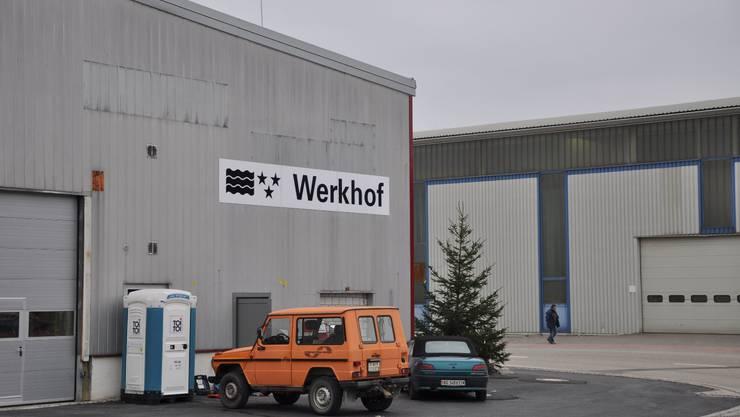 Beschriftet: Der kantonale Werkhof wird ab Januar im Industriegebiet Münchwilen den Betrieb aufnehmen. dvk
