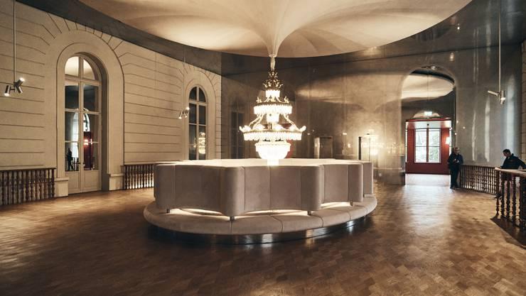 Herzog & de Meuron haben erstmals Einblick in das fertig restaurierte und erweiterte Stadtcasino gewährt.
