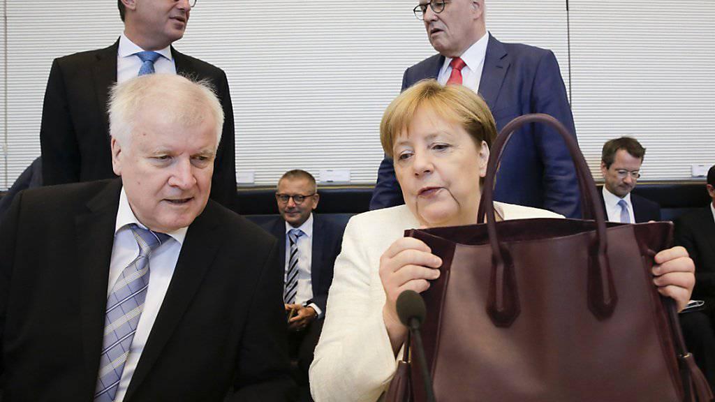 Der deutsche Innenminister Horst Seehofer lag mit Kanzlerin Angela Merkel in der Asylpolitik im Clinch. (Archivbild)