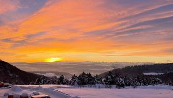Sonnenaufgänge Aargau 22. Januar 2021