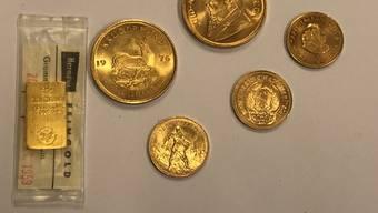 Die Goldstücke sind mehrere tausend Franken wert.