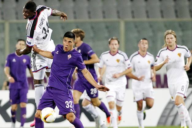 Auch Breel Embolo hatte es gegen die gute Defensive der Fiorentina zu Beginn schwer.