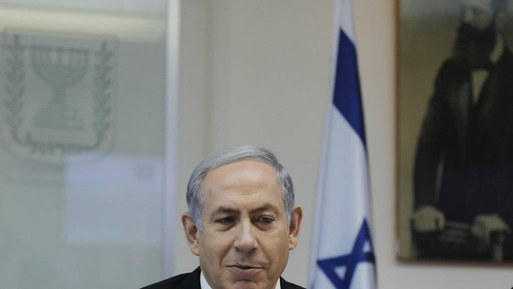 """""""Gespräche mit Abbas ohne Vorbedinungen"""": Israels Premier Benjamin Netanjahu"""