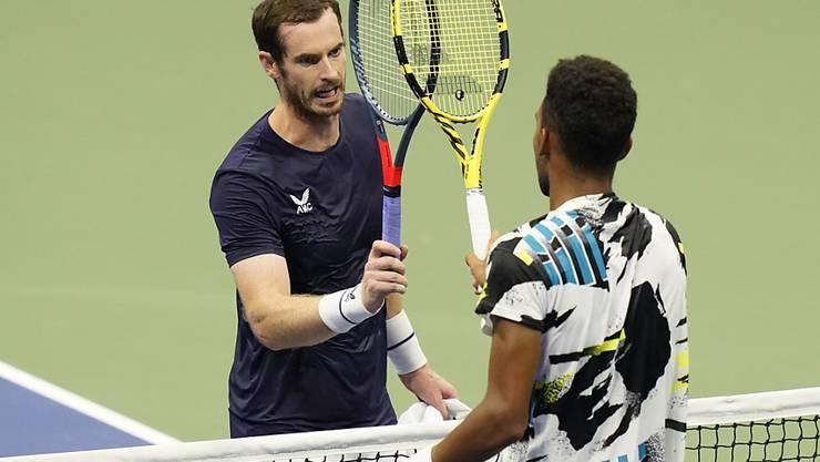 Out in der 2. Runde: Andy Murray blieb im Generationenduell gegen den jungen Kanadier Félix Auger-Aliassime (ATP 21) chancenlos