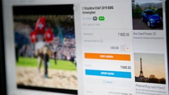 Eines der strittigen Angebote auf dem Online-Marktplatz Ricardo.ch.