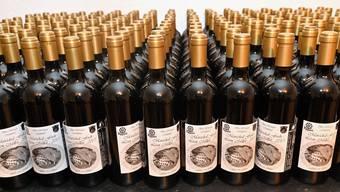 Die Barrique-Flaschen des ersten Trimbachers.