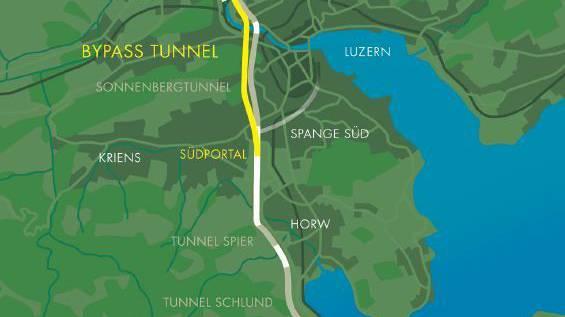 «Bypass» Luzern kostet rund 1,7 Milliarden Franken