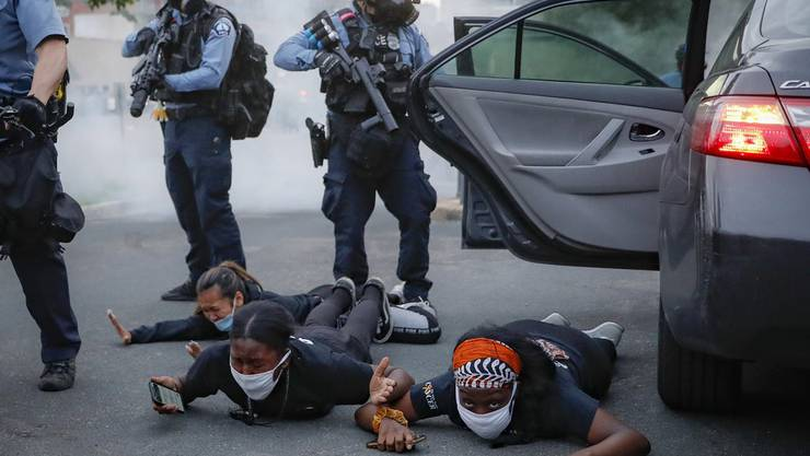 Bilder der Proteste nach dem Tod von George Floyd in den USA.