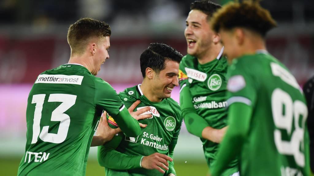 St.Gallen reisst Ruder herum: 3:1 gegen Lugano