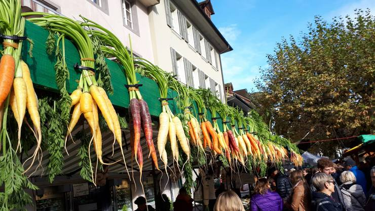 Impressionen vom Aarauer Rüeblimärt 2019.