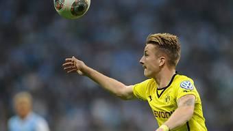Dortmunds Marco Reus beim Kopfball.