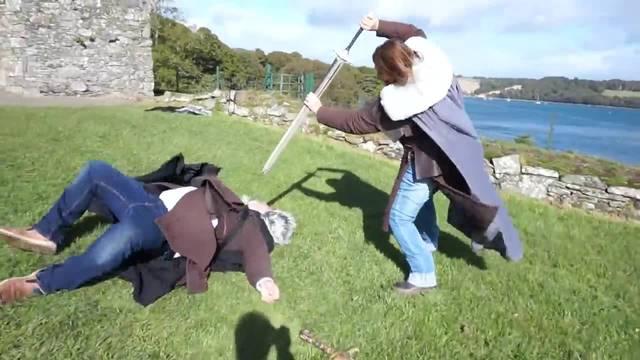 Schwertkampf in Winterfell