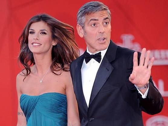 Elisabetta Canalis und George Clooney (Archiv)