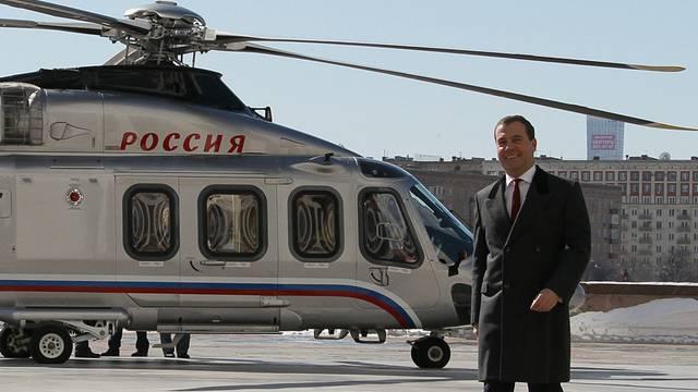 Medwedew hat seinen Pendel-Flug sichtlich genossen