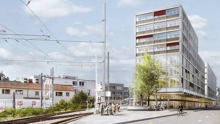 Das neue Gebäude im Modell.