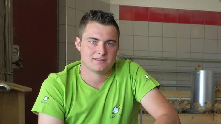 Simon Lüscher betreibt einen Biohof in Holziken.