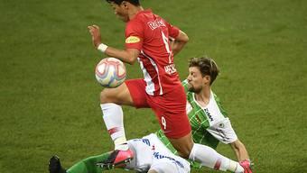 Leipzigs Neuzugang Hwang Hee-chan (im roten Dress) erzielte in der laufenden Meisterschaft in Österreich für RB Salzburg in 27 Spielen elf Treffer und gab zwölf Torvorlagen