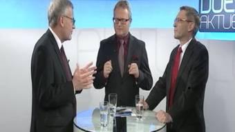 Kurt Fluri (links) und Pirmin Bischof im Duell Aktuell