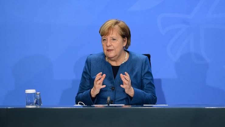 Medienkonferenz mit Angela Merkel