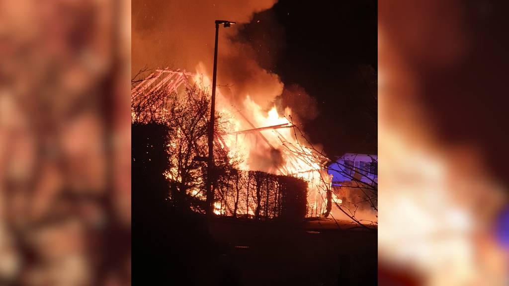 Brittnau (AG): Haus brennt komplett ab