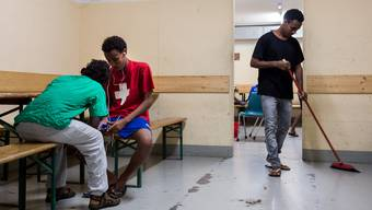 Asylbewerber aus Eritrea ein einem Schweizer Durchgangszentrum.