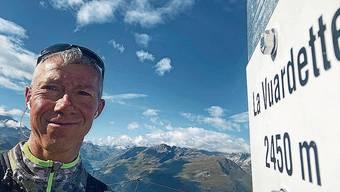 Roland Gröflin hat den Höhepunkt der gestrigen Etappe erreicht.