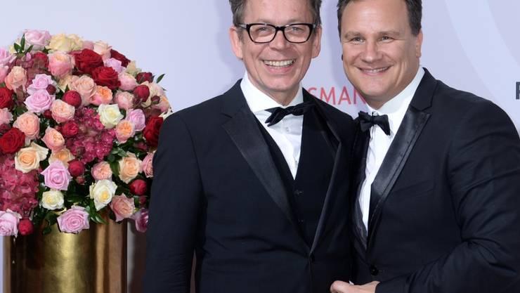 Guido Maria Kretschmer (r) und Partner Frank Mutters, hier 2014 an einem  Anlass 74511c6c08