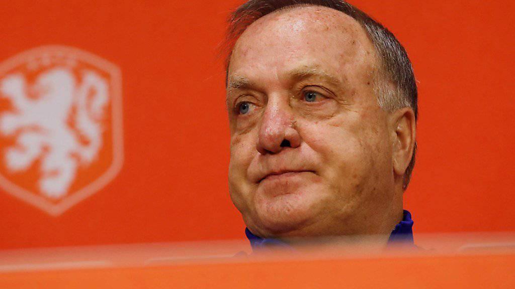 Die Niederlande mit Coach Dick Advocaat steht vor einer schier unlösbaren Aufgabe