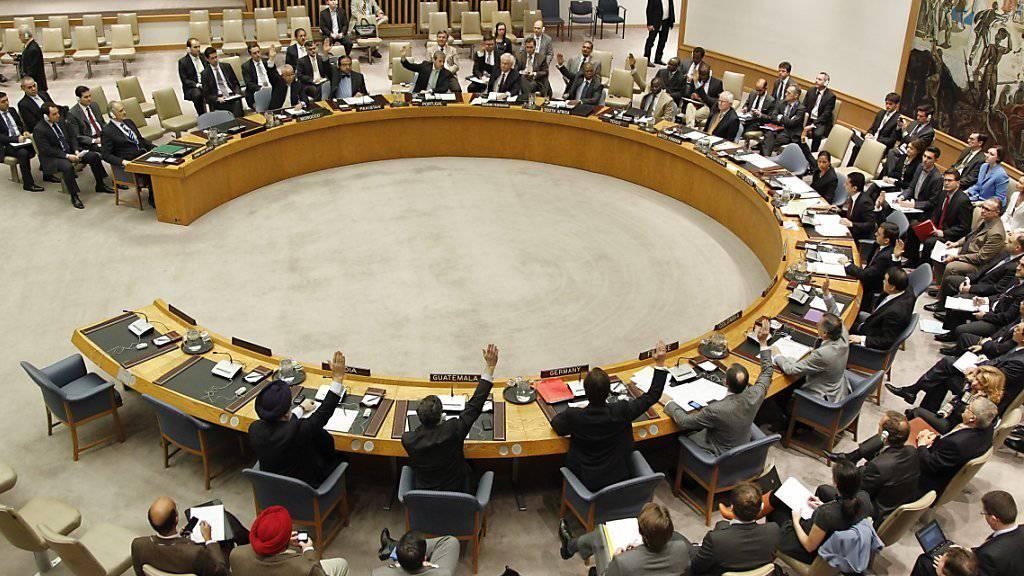 Blick auf den Weltsicherheitsrat. Die UNO-Vollversammlung wählte fünf neue nicht-ständige Mitglieder, darunter die Ukraine. (Archiv)