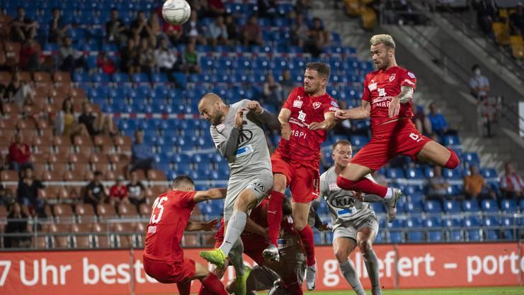Der FC Vaduz ist in den letzten Minuten dem Führungstreffer nahe.