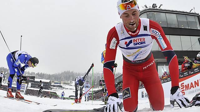 Petter Northug machte auf der Ziellinie seine Gegner lächerlich.