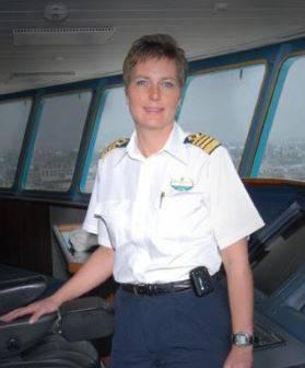 Karin Stahre-Janson, erste Kreuzfahrt-Kapitänin.
