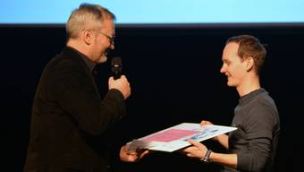 Patrick Rüegger von Soly Innovation AG holte mit seiner Bestell-App Zkip sowohl den Jury- als auch den Publikumspreis.
